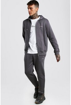Slate MAN Signature 3 Piece Zip Hoodie Tee & Jogger Set