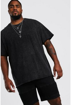 Big And Tall Loose Fit MAN Official T-Shirt , Charcoal