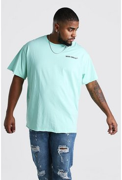 Big And Tall Loose Fit MAN Official T-Shirt , Mint