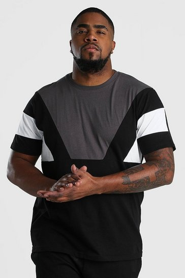 Slate Big And Tall Colour Block T-Shirt