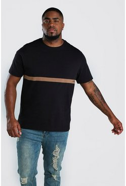 Black Big And Tall MAN Signature Colour Block T-Shirt