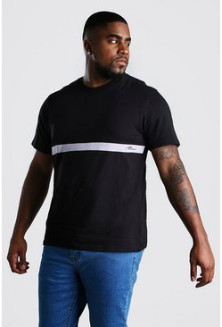 Big And Tall MAN Signature Colour Block T-Shirt, Black