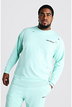 Mint Big And Tall MAN Official Distressed Sweater