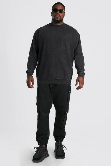 Charcoal Big And Tall MAN Official Sweater