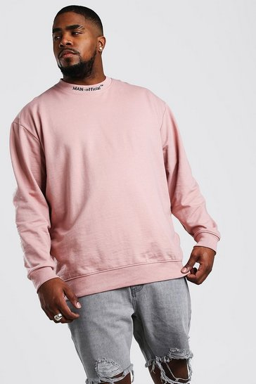 Mauve Big And Tall MAN Official Sweater