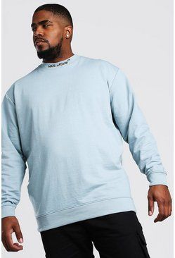 Blue Big And Tall MAN Official Sweater