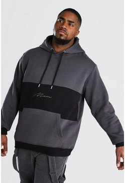 Charcoal Big And Tall MAN Signature Hoodie