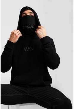 Black MAN Official Jersey Hoodie With Snood