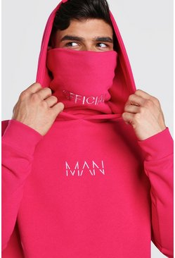Pink MAN Official Jersey Hoodie With Snood