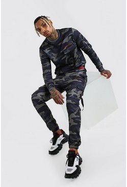 Dark green MAN Official Camo Utility Sweater Tracksuit
