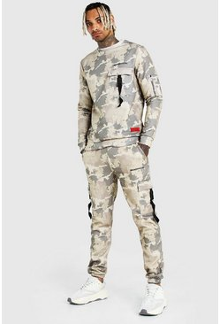 Khaki MAN Official Camo Utility Sweater Tracksuit