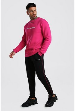 Pink Contrast Official MAN Sweater Tracksuit