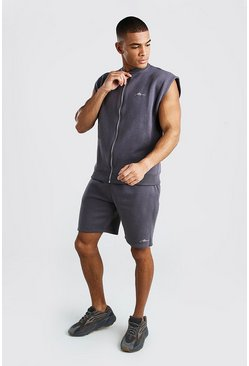 Slate MAN Signature Sleeveless Bomber & Short Set