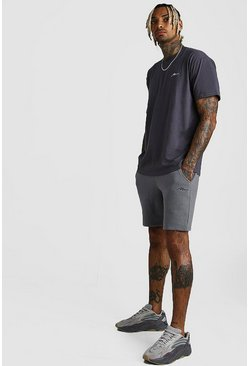 Slate MAN Signature Loose Fit T-Shirt & Short Set
