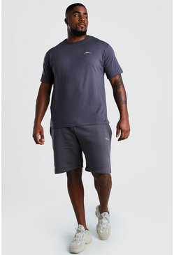 Slate Big And Tall MAN T-Shirt And Short Set