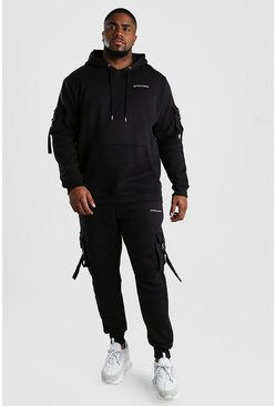 Black Big And Tall Official MAN Utility Tracksuit