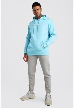 Light blue Contrast Official MAN Loose Fit Tracksuit