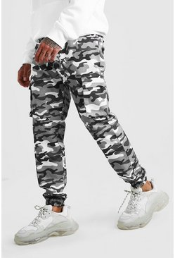 Light grey Camo Cargo Pants