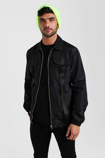Black Nylon Buckle Overshirt