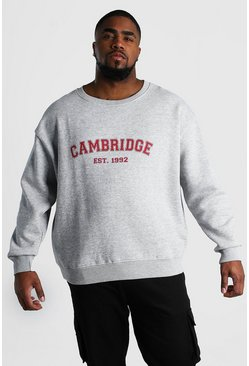 Grey Big And Tall Cambridge Print Sweatshirt