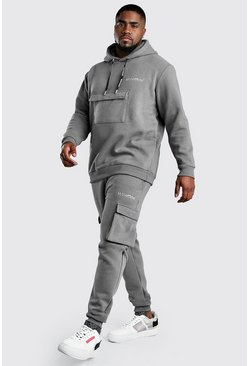 Slate Big And Tall MAN Official Cargo Tracksuit