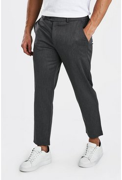 Pantalon court slim casual, Anthracite