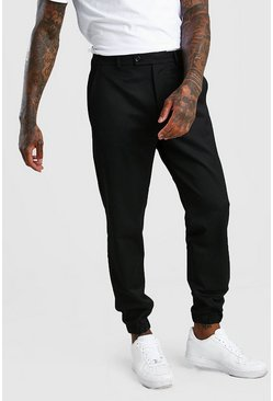 Black Skinny Fit Cuffed Trouser