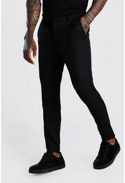 Black Casual byxor i super skinny fit