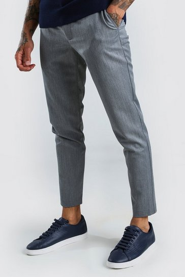 Grey Super Skinny Casual Trousers