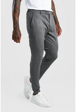 Charcoal Super Skinny Casual Trousers