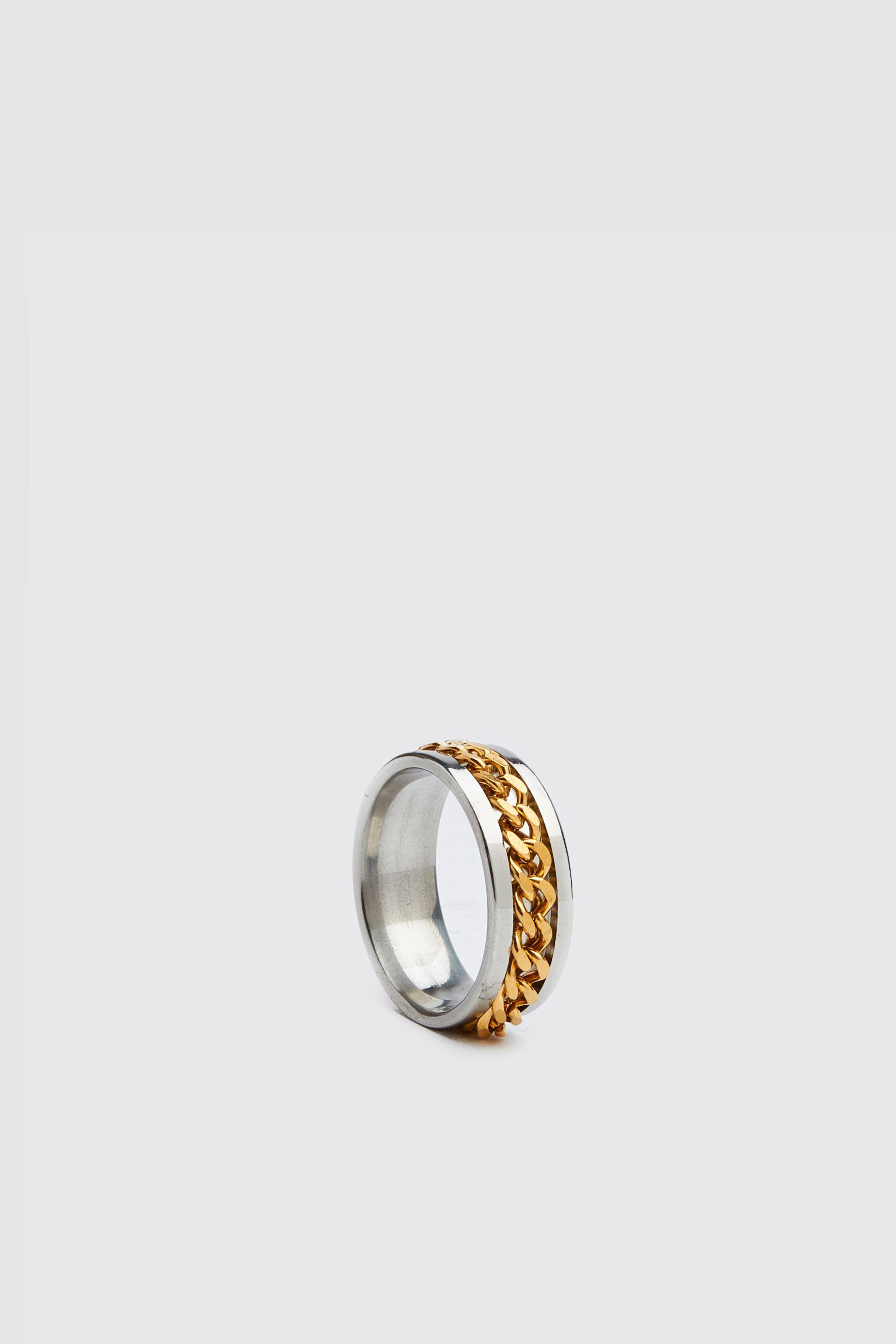 Chain Detail Ring Boohoo Uk