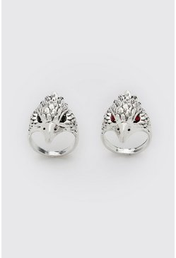 Silver 2 Pack Eagle Ring Set