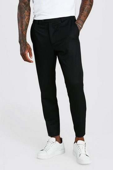 Black Skinny Cropped Casual Trouser