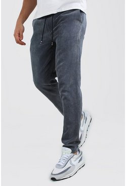Powder blue Slim Fit Cord Jogger Trouser