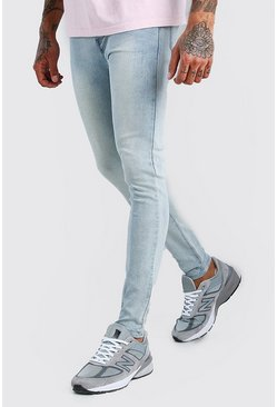 Super Skinny Denim Jeans, Ice blue