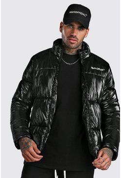 Black High Shine MAN Official Puffer
