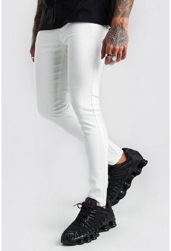 Jeans super skinny en denim, Blanco