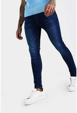 Super Skinny Washed Denim Jean, Washed indigo