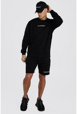 Black MAN Official Short Sweater Tracksuit