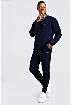 Navy MAN Loose Fit Sweater And Skinny Jogger
