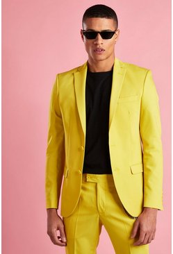 Yellow Super Skinny Fit Blazer