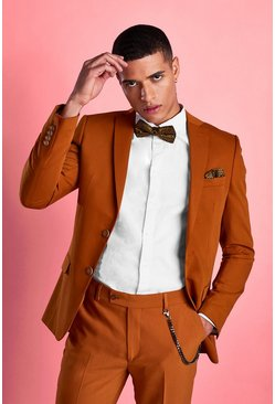 Brown Super Skinny Fit Blazer