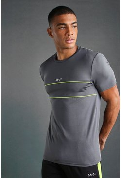 Slate MAN Poly T-Shirt With Reflective Piping