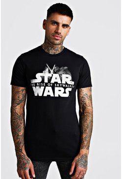 Black Star Wars The Rise Of Skywalker License T-Shirt