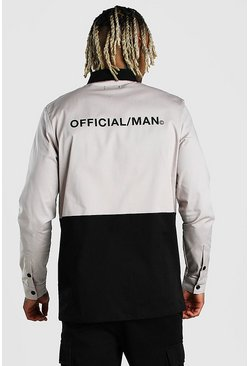 Camicione MAN Official a blocchi di colore con stampa sul retro, Multi