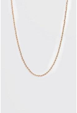 Twisted Rope Chain, Gold
