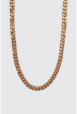 Mens Gold Medium Cuban Chain