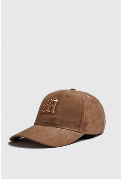 Mens Stone 3D Embroidered Faux Suede M Cap