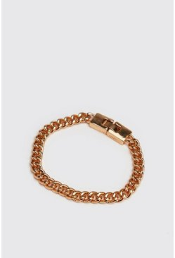 Mens Gold Chain Link Bracelet