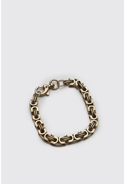 Mens Gold Chunky Hogan Chain Bracelet